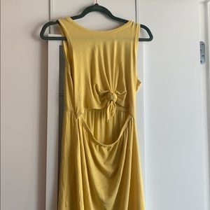 Aerie tie knot open waist dress